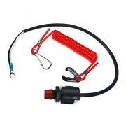 Boat Marine Plastic Outboard Engine Cut Off Kill Stop Switch Lanyard Replacement