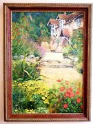 Original Oil Painting 37 1/2 X 26 1/2 In. Frame Is Included. Village Vista.
