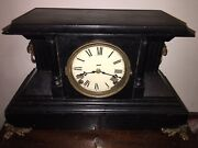 Antique 1884-1936 Sessions Clawfoot Lionshead 8 Day Movement Mantle Clock