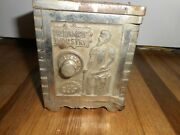 Vintage The Bank Of Industry Kenton Brand Cast Iron Toy Combination Safe Bank