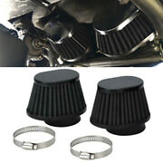 55mm Id Black High Performance Motorcycle Parts Pod Air Filter Cleaner Black X2