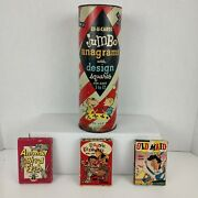 Vtg. Lot Of Ed-u-cards Games Anagrams Old Maid Go Fish Rootie Kazootie Games