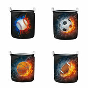 Basketball Design Foldable Laundry Baskets Clothes Round Hamper Washing Bags Bin