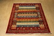 Fine Quality Genuine Handmade Hand-knotted Oriental Rug 6'x8' Vegetable Dyed