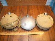 Vintage Lot Of 3 Boy Scouts Of America Aluminum Canteens