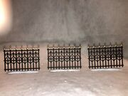 Dept 56 Village Wrought Iron Fence Sections Lot Of 3 No Box Mint