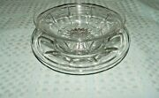 Heisey Marked Clear Glass Colonial Bowl And Underplate
