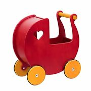 Baby Doll Wooden Pram In Red - Shop For Baby