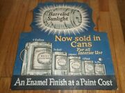Vintage Rare Barreled Sunlight Paint Advertising Store Stand Up Display Sign