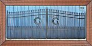 Custom Built Iron Driveway Entry Gate 16and039 Wd Dual Swing Residential Yard Secure
