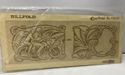 Vintage Craftaid Young Couple Riding Motorcycle Leather Billfold Pattern6532