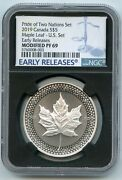 2019 Canada 5 Maple Leaf Ngc Pf69 Modified Early Release Two Nations Bj883