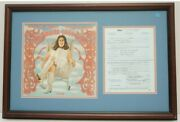 Mama Cass Elliot Hand Signed Contract Autograph Mamas And The Papas Dave Mason
