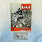 Green Bay Packer Pictorial Review Oct. 17th, 1948 Game Program With Tickets