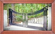 Ornamental Iron Driveway Gate 14and039 Swing Inc The Post Package Home Security