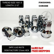 Fit Ford F-150 2015-2020 Oem Replacemnt Solid Lug Nuts 14x1.5 Thread Chrome 24pc
