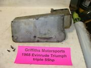 1968 69 Johnson Evinrude Outboard 55hp Triumph Airbox Air Baffle Breather Cover