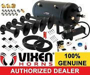 Train Horn Kit For Truck/car/pickup Loud System /5g Air Tank /200psi /5 Trumpets
