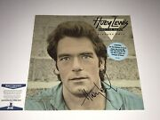Huey Lewis And The News Autographed Vinyl Record Picture This Bas Free Shipping