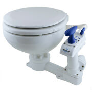 Onboard Marine Boat Toilet Flush Pump Manual Compact Low White Ceramic Bowl New