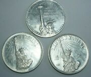 Rare First 3 Years 1984-and03986 Liberty Mint 1oz 999 Silver Rounds Tender For Debt