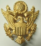1930s / Ww2 Us Army Officer Hat Badge - Luxenberg New York - Clean / Minty - Sb