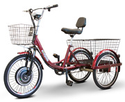 Ewheels Electric Trike Red Pedaling Tricycle Bike Scooter Ew29 15mph Notax