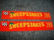 1956 1957 1958 Studebaker Sky Hawk Sweepstakes 289 Valve Cover Decals Pair New