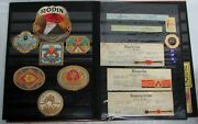 Antique 213 Cigar Labels And Bands Collection