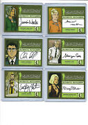 Archer Seasons 1-4 - Autograph Wardrobe And Sketch Card Selection Nm Cryptozoic
