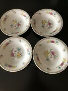 Liling Fine China Salad Plate Bowls Yung Shen Floral Butterfly Set 4