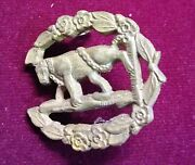 Uk Bear And Ragged Staff Of Warwickshire Badge With Horse In Center 3x3cm