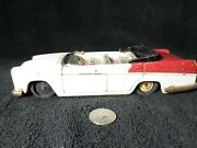 Vintage Tin Convertible Car From Japan Mg Magnette Friction Red And White Rare