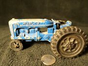 Vintage Blue Hubley Aluminum Tractor Made In The Usa Kiddie Toy