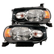 Headlights Set Left Right High Quality Capa Pair Fits 2009-2014 Nissan Cube