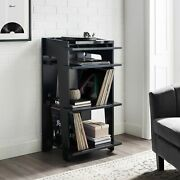 Turntable Stand Rack Vinyl Record Player Lp Storage Cabinet Table Media Console