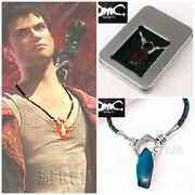 Dmc Devil May Cry Dante Vergil Nephilim Ruby Necklace Game Pendant Cosplay Prop