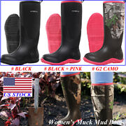 Hisea Womenand039s Breathable Rubber Boots Waterproof Snow And Rain Muck Hunting Boots
