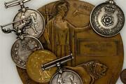 Mm Group + Boer War / World War One Wwi Military Medals And Gillard Death Plaque