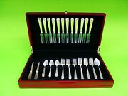 William And Mary By Lunt Sterling Silver Flatware Service Set For 12, 62 Pieces.