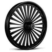 Dna Ss2 Gloss Black Forged Billet 23 X 3.75 Front Wheel And Rotors Abs