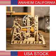 Diy 3d Puzzle Wood Wheel Lift Coaster Manually Operated Toy Kit
