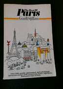 The Best Of Paris By Henri Gault And Chris Millau Stated 1st Ed W Full Line 1982