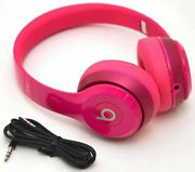 Genuine Beats By Dr Dre Solo 2 Wired Headphones Hot Pink Solo2 B0518 Audiophile