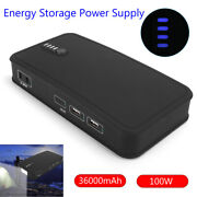 100w Energy Storage Power Supply Usb Charger 36000mah Led For Laptop Smart Phone