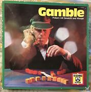 """1973 Gamble Game. """"poker With Weights And Scales"""" Rare. Instructions In German."""