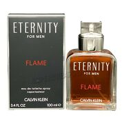 Eternity Flame By Calvin Klein For Men 3.4 Oz Edt Spray New In Box Authentic