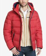 Big And Tall Menand039s Red Quilted Puffer Hooded Jacket 275