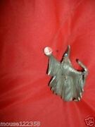 Vintage Spoontiques Pewter Wizard Statue Crystal Ball