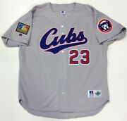 Ryne Sandberg 1994 Chicago Cubs Authentic Russell Jersey 52 Diamond Collection